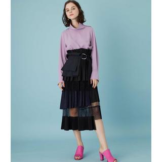 ステュディオス(STUDIOUS)のUNITED TOKYO プリーツレイヤードスカート(ひざ丈スカート)
