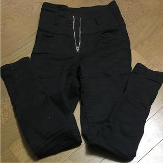 ムルーア(MURUA)のムルーア ハイウエスト 黒  パンツ(スキニーパンツ)