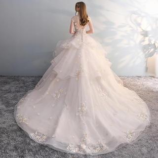 ウエディングドレス とロングベールセット(ウェディングドレス)