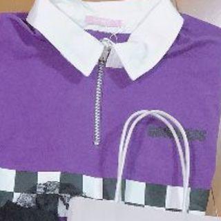 ♡ お洋服 紫 ♡(ポロシャツ)