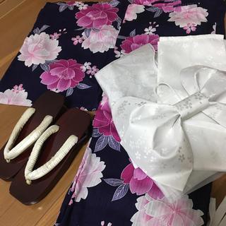 インディヴィ(INDIVI)の浴衣セット 5点 帯 下駄(浴衣)