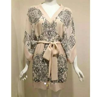 ビーシービージーマックスアズリア(BCBGMAXAZRIA)のBCBG キモノスリーブ 定価3.5万 ワンピース ドレス ピンク(ミニワンピース)