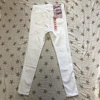 チュー(CHU XXX)の【新品】−5kgジーンズ ホワイト27 春夏用(スキニーパンツ)