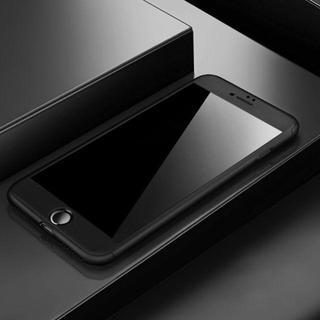 TA343 メタリックフルカバー iphone8 7PLUS フィルム付き 黒(チャーム)
