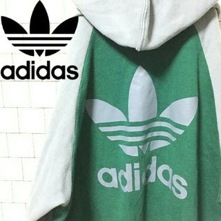 アディダス(adidas)の【レア】アディダスオリジナルス トレフォイル ビッグ ロゴ パーカー XL(パーカー)