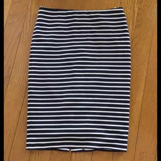 シマムラ(しまむら)のボーダー♡ペンシルスカート(ひざ丈スカート)