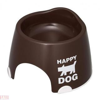 伊勢藤 小型犬専用フードボウルすべり止め付きチョコブラウ(犬)
