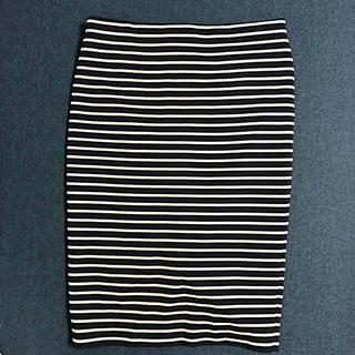 シマムラ(しまむら)の美品❤️タイト ボーダー スカート(ひざ丈スカート)