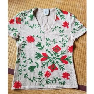 シビリア(SIVIGLIA)のシビリア カットソー 刺繍 ニット 花柄(カットソー(半袖/袖なし))