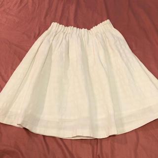 アンデミュウ(Andemiu)のAndemiu ホワイトフレアスカート(ひざ丈スカート)
