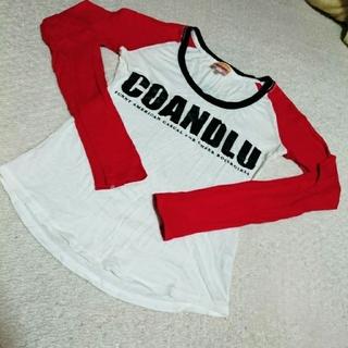 ココルル(CO&LU)のCOCOLULU トップス 長袖 今季 赤 ホワイト 白 ストリート ANAP(Tシャツ(長袖/七分))