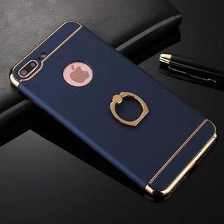 TA316 バンカーリング付きハードiphone8/7ケースアイフォン ブルー(チャーム)