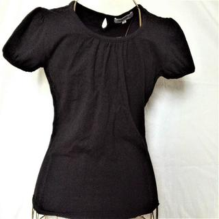 シマムラ(しまむら)の【しまむら  カットソーTシャツ 黒 Mサイズ セオリア】(Tシャツ(半袖/袖なし))