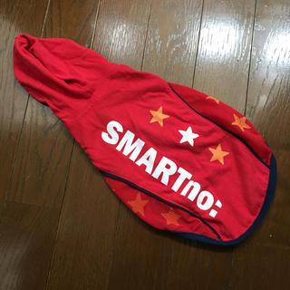 犬の服 フード付き パーカー ベスト  3号 赤 スリーアローズ(犬)