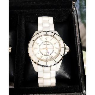 シャネル(CHANEL)のJ12 ホワイトセラミック 11ダイヤ(腕時計(アナログ))