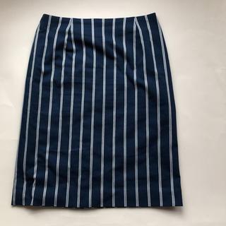 ニューヨーカー(NEWYORKER)の美品 ニューヨーカー ストライプ タイトスカート(ひざ丈スカート)