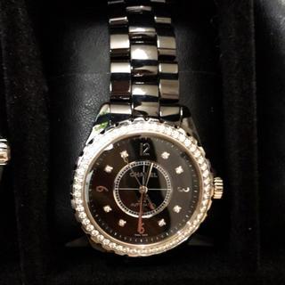 シャネル(CHANEL)のJ12 ブラックセラミック ベゼルダイヤ(腕時計(アナログ))