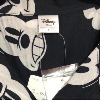 ディズニー(Disney)のmickey mouse ミッキーマウス アロハシャツ ブラック 新品未使用 L(シャツ)