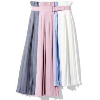 レディアゼル(REDYAZEL)のREDYAZEL カラーブロックラッププリーツスカート(ロングスカート)