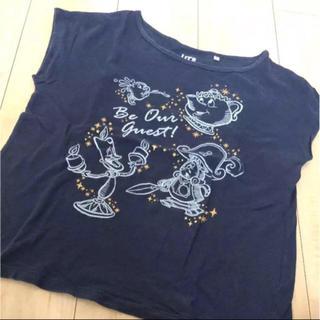 ユニクロ(UNIQLO)のユニクロ ディズニー コラボ 美女と野獣 ノースリーブ Tシャツ(Tシャツ(半袖/袖なし))