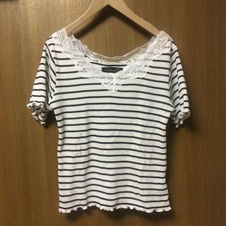 ヘザー(heather)のワッフルT ボーダーT(Tシャツ(半袖/袖なし))