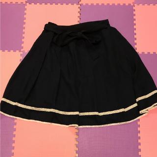 レース付きスカート(ひざ丈スカート)