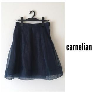 カーネリアン(carnelian)のカーネリアン*フレアスカート オーガンジー(ひざ丈スカート)