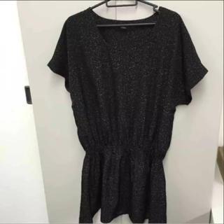 セポ(CEPO)の9660 cepo. セポ コクーンシルエットワンピース 黒 ドット 水玉(Tシャツ(半袖/袖なし))