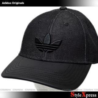 アディダス(adidas)の新品 アディダス オリジナルス キャップ 黒 トレフォイル ロゴ刺繍 帽子(キャップ)