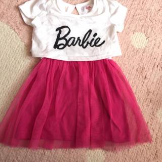 バービー(Barbie)の美品🍁Barbieワンピース90cm(ワンピース)