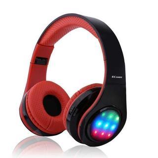 Bluetooth ワイヤレス ヘッドフォン折りたたみ式 赤(ヘッドフォン/イヤフォン)
