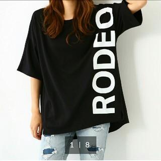ロデオクラウンズワイドボウル(RODEO CROWNS WIDE BOWL)の新品ロデオクラウンズ Tシャツ ブラック(Tシャツ(半袖/袖なし))