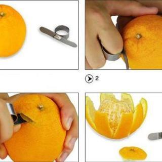 【キッチン用品】オレンジピューラー 皮むき器 夏みかん はっさく 調理器具(調理道具/製菓道具)