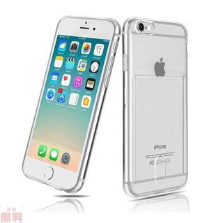 iPhone6ケース クリア カード収納 iPhone6sケ(iPhoneケース)