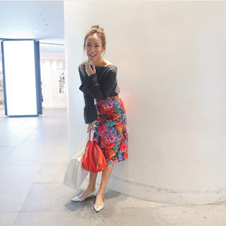 ドゥロワー(Drawer)のBLAMINK 花柄スカート(ひざ丈スカート)