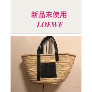 ロエベ(LOEWE)の新品未使用 ロエベ カゴバッグ  Mサイズ ブラック(かごバッグ/ストローバッグ)