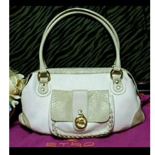 エトロ(ETRO)の☆値下げ☆ETROエトロ、リアルパイソンのバッグです。(ハンドバッグ)