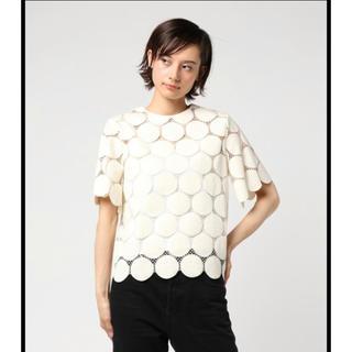 ルシェルブルー(LE CIEL BLEU)の人気完売品 LE CIEL BLEU ビッグドットレーストップス(シャツ/ブラウス(半袖/袖なし))