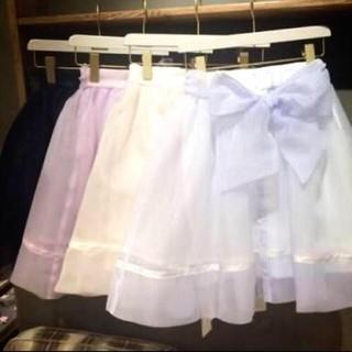 スナイデル(snidel)の試着のみsnidel♡バックリボンスカート(ひざ丈スカート)