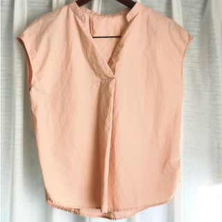 ジーユー(GU)のGU スキッパーシャツ(半袖) ピンク(シャツ/ブラウス(半袖/袖なし))