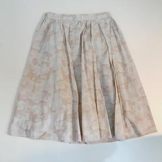 シマムラ(しまむら)のしまむら購入 ベージュ 迷彩柄スカート(ひざ丈スカート)
