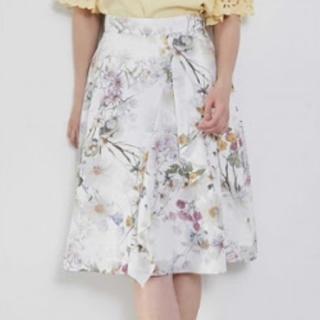PROPORTION BODY DRESSING - プロポーション ボディドレッシング♡アシメラッフルフラワープリントスカート