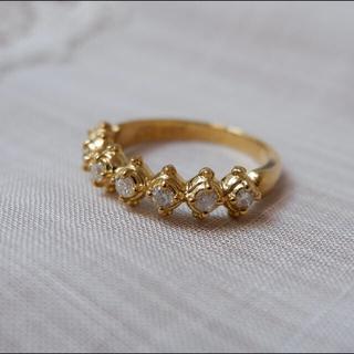 アーカー(AHKAH)のAHKAH K18 メモリアル ダイヤモンド 0.25 リング アーカー(リング(指輪))
