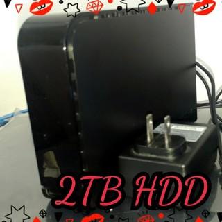 《すぐ使える》HDD 2TB 外付け バッファロー製品 AC USB付属(テレビ)