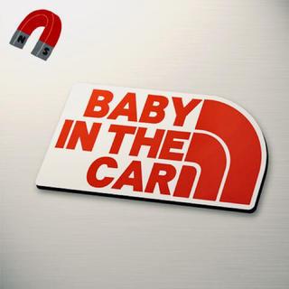 【マグネット】BABY IN CAR:レインボーデザインRE/WH