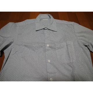 GU - GU ストレッチブロードシャツ(長袖)(プリント)CL