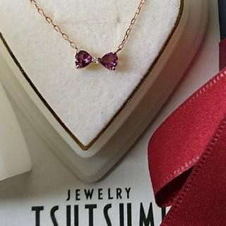JEWELRY TSUTSUMI - ジュエリーツツミ ダイヤモンド アメジストリボン ネックレス K10 ゴールド