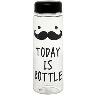 おしゃれ クリアボトル 水筒 500ml TODAY IS BOTLLE(容器)