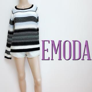 EMODA - おしゃれ着♪エモダ 薄手 カジュアルボーダーニット♡マウジー ロデオクラウンズ