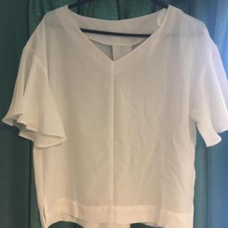 ジーユー(GU)のフリル袖ブラウス(シャツ/ブラウス(半袖/袖なし))